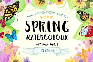 Spring Watercolor DIY Pack!