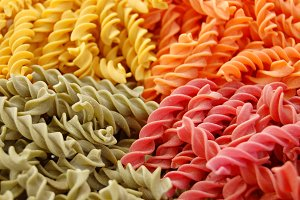 Colorful Fusilli Pasta