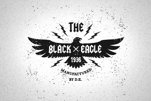 Vintage Label Black Eagle