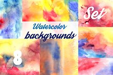 Watercolor multicolored backgrounds