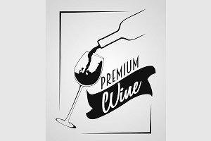 Logotype Premium wine