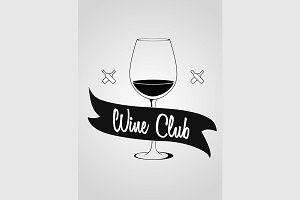 Logotype concept with wine glass