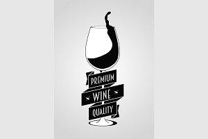 Wine premium quality logo
