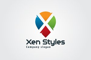 Colorful Letter X Logo