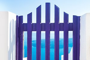 Small blue fence gate, Greece.