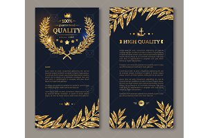 Gold Wreath Flyers