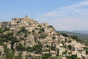 Gordes old town view, France