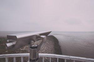Binoculars at the Sea (Vintage Look)