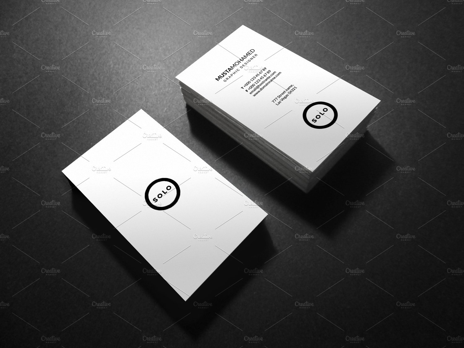 White Clean Minimal Business Card ~ Business Card Templates ...