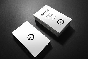 White Clean Minimal Business Card