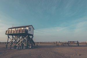 Stilt Houses on the North Sea Coast