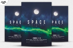 SPACE GALACTIC Flyer Template