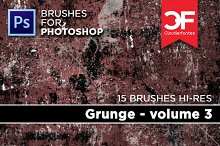 15 Grunge brushes for photoshop vol3