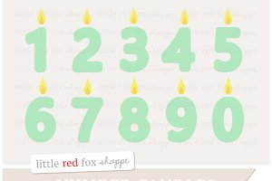 Number Candle Clipart
