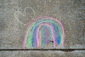 Rainbow Sidewalk Chalk