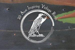 20 Vintage Bird Icons