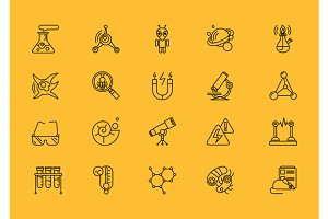 Symbols Sciences Set