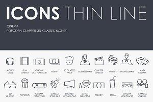 Cinema thinline icons