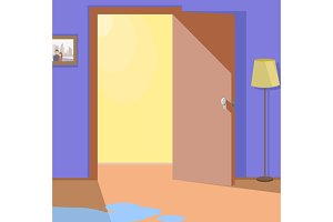 Light from Open Door Interior Design