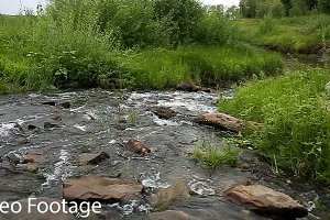 Small river with rocky bottom.