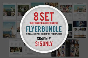 8 Set Photography Flyer Bundle