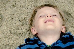 Boy Enjoying the Beach