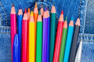 Pencils in pocket