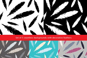 Set of 5 seamless backgrounds