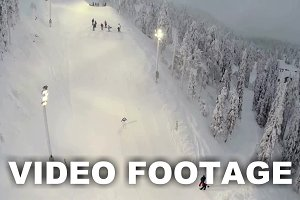 Aerial view of skier doing trick