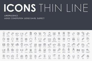 Jurisprudence thinline icons