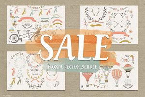 SALE! Floral wreaths, balloon, bike