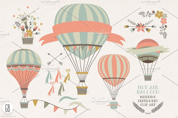 SALE! Floral wreaths, balloon, bike in Illustrations - product preview 3