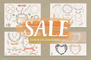 SALE! Floral elements, wreaths