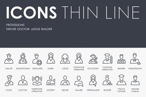 Professions thinline icons