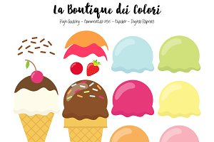 Make your own Ice cream Clipart