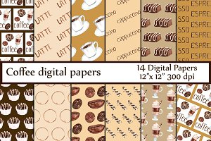 Coffee digital papers