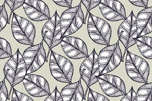 Engraved  leaves pattern