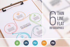 Line flat elements for infographic_2