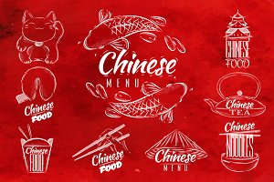 Chinese food signs