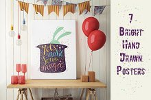 7 Cute Hand Drawn Posters