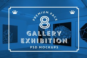Gallery exhibition mockups