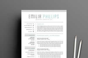 resume template 5 page pack smoke resume templates creative market