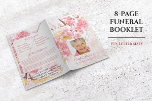 8-Page Funeral Booklet Sweet Blossom