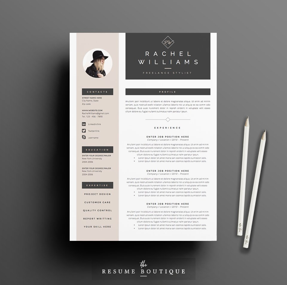 Resume Template 4 page ...