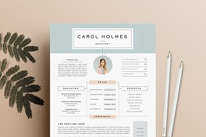 resume template 5 page pack petal resume templates creative market