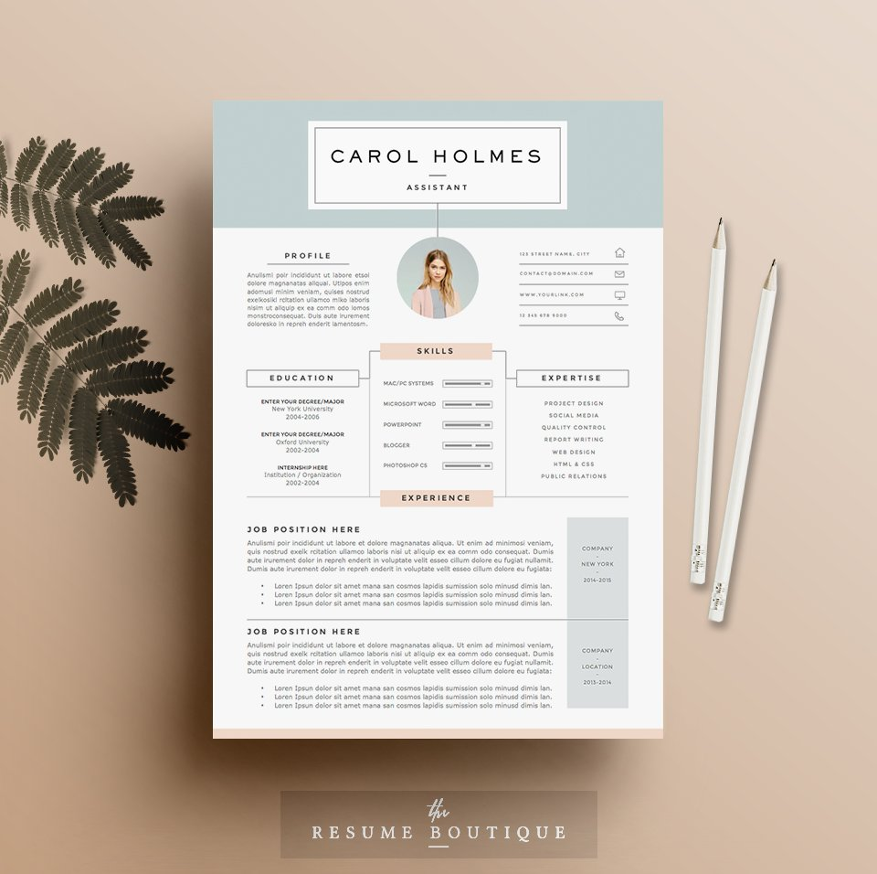 resume template 5 pages milky way - Creative Design Resume Templates