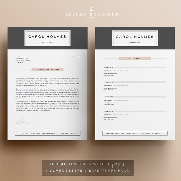 resume template 5 pages milky way resume templates creative market