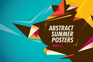 Abstract summer posters.