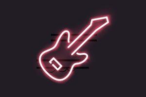 Neon guitar sign