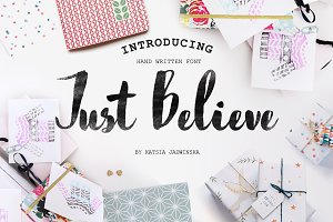 Just Believe Hand Written Font